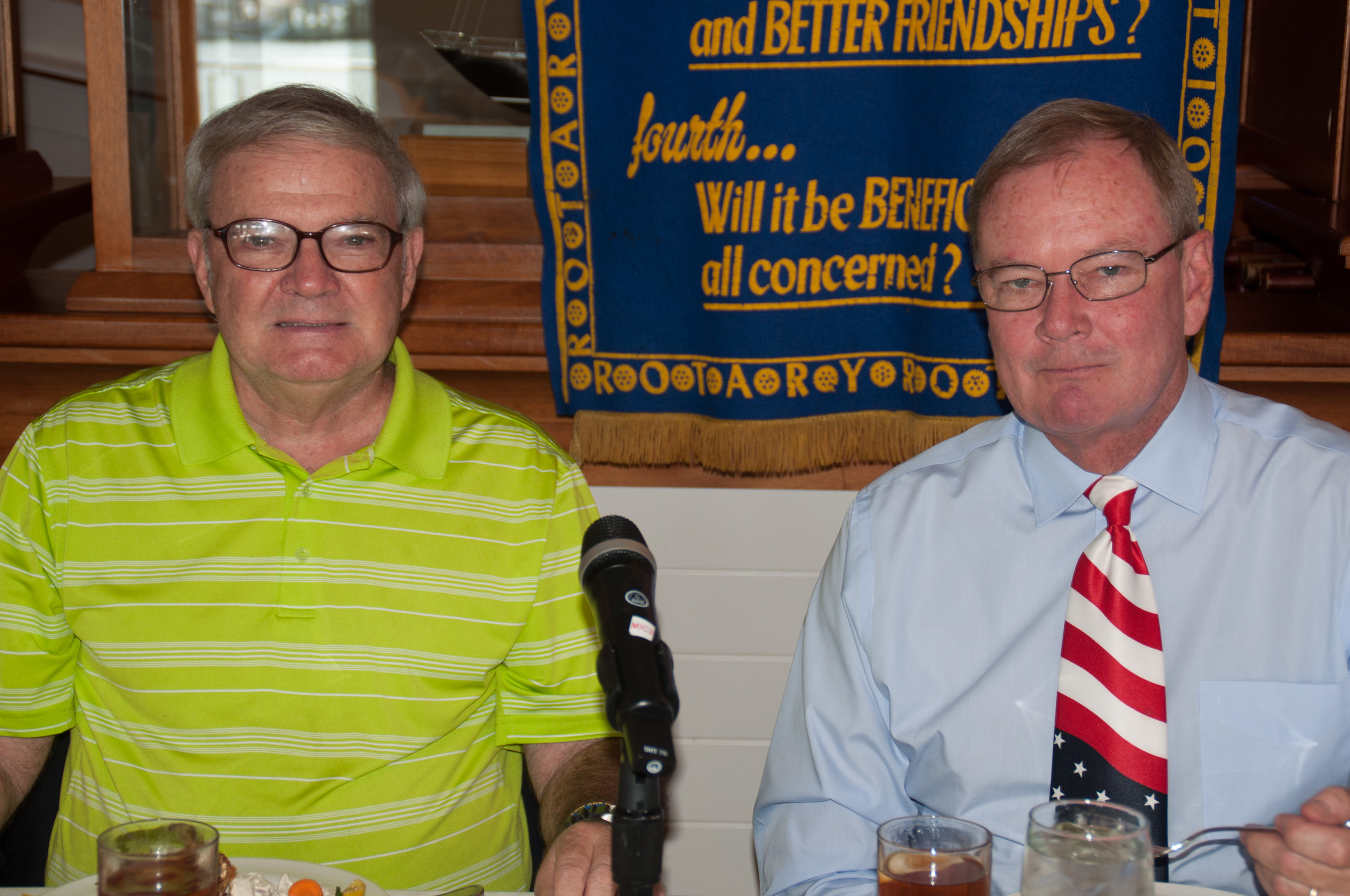 Fred Delp, NAMI AAC President, speaks to the Annapolis Rotary Club